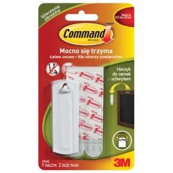 Hak Command 17040 z uchwytem, do ramek - biały
