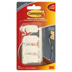 Uchwyty do kabli Command 17301 średnie, 4szt. - białe