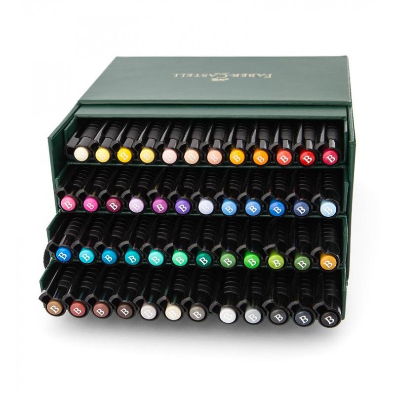pisaki artystyczne faber castell pitt artist pen atelier box 48 kolor w. Black Bedroom Furniture Sets. Home Design Ideas