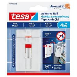 Gwoździe samoprzylepne Tesa regulowane do płytek i metalu 4kg/2szt.