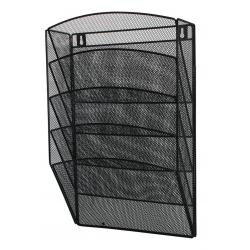 Zestaw 5 półek ściennych Q-CONNECT Office Set metalowy - czarny
