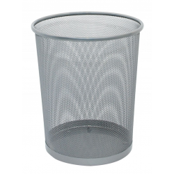 Kosz na śmieci Q-CONNECT Office Set metalowy 19l - srebrny