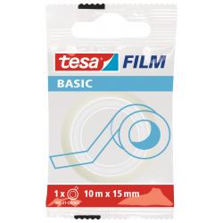 Taśma samoprzylepna Tesa Basic 15mm/10m - przezroczysta