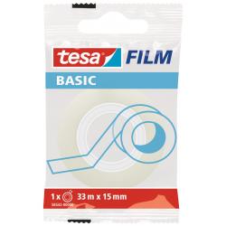 Taśma samoprzylepna Tesa Basic 15mm/33m - przezroczysta