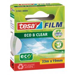 Taśma samoprzylepna TesaFilm Eco&Clear 19mm/33m - przezroczysta