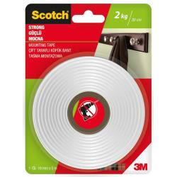 Taśma montażowa 3M Scotch 19mm/5m mocna - biała