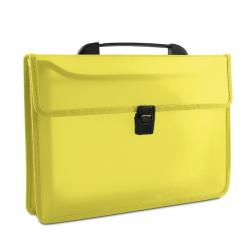 Teczka z rączką Donau PP A4/35mm - transparentna żółta
