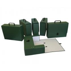 Teczka z rączką Delfin Maxi A4/10cm - zielona