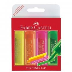 Zakreślacz Faber Castell neon komplet w etui - 4 kolory