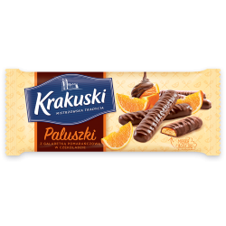 Ciastka Krakuski Paluszki z galaretką pomarańczową 144g