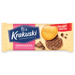 Ciastka Krakuski Serduszka 171g
