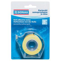 Notes samoprzylepny w rolce Donau 50mm x 10m - żółty
