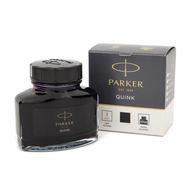Atrament Parker Quink w butelce - kolor czarny 57 ml