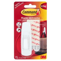 Hak Command 17003 wielokrotnego użytku, duży - biały