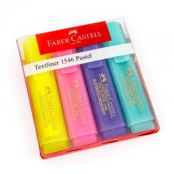 Zakreślacz Faber Castell pastel komplet w etui - 4 kolory