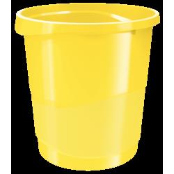Kosz na śmieci Esselte Europost Vivida 14l - żółty