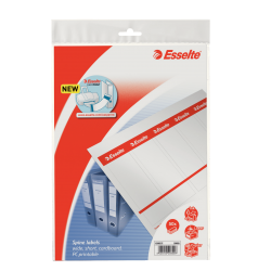 Etykiety grzbietowe Esselte 49x158/50szt. do zadruku - białe