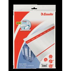 Etykiety grzbietowe Esselte 29x158/80szt. do zadruku - białe
