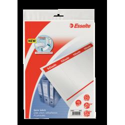 Etykiety grzbietowe samoprzylepne Esselte 59x192/40szt. do zadruku - białe