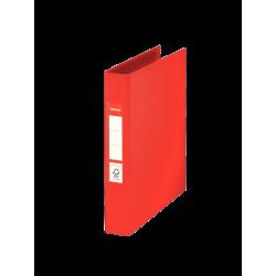 Segregator Esselte z 2 ringami A5/40mm - czerwony