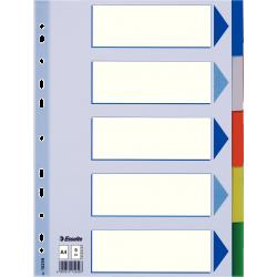 Przekładki plastikowe Esselte A4 - 5 kart