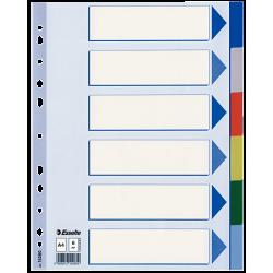 Przekładki plastikowe Esselte A4 - 6 kart