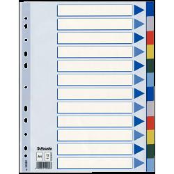 Przekładki plastikowe Esselte A4 - 12 kart