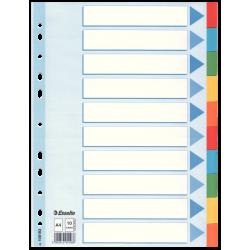 Przekładki kartonowe Esselte A4 kolorowe  - 10 kart