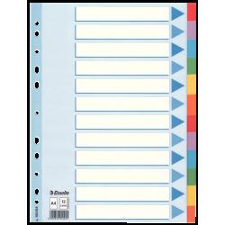 Przekładki kartonowe Esselte A4 kolorowe  - 12 kart