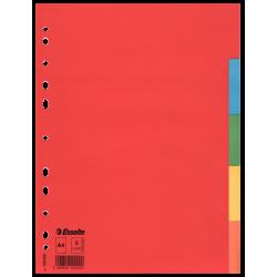 Przekładki kartonowe Esselte bez karty opisowej A4 kolorowe - 5 kart