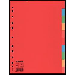 Przekładki kartonowe Esselte bez karty opisowej A4 kolorowe  - 10 kart