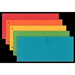 Przekładki kartonowe Esselte 1/3 A4 Maxi - mix kolorów