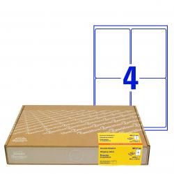 Wysyłkowe etykiety białe A4 - 99,1 x 139 mm / 300 ark