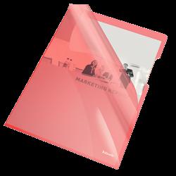 Ofertówki krystaliczne Esselte A4/25szt. 150 mic. - czerwone
