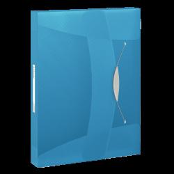 Teczka z gumką Esselte Vivida PP 40mm - niebieska