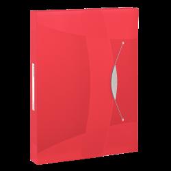 Teczka z gumką Esselte Vivida PP 40mm - czerwona