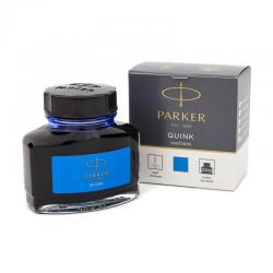 Atrament Parker Quink w butelce - kolor niebieski zmywalny 57 ml