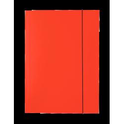 Teczka lakierowana z gumką Esselte - czerwona