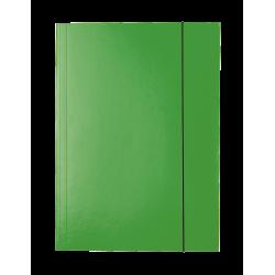 Teczka lakierowana z gumką Esselte - zielona