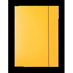 Teczka lakierowana z gumką Esselte - żółta