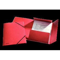 Teczka preszpanowa z gumką Esselte - czerwona