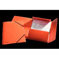Teczka preszpanowa z gumką Esselte - pomarańczowa