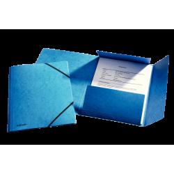 Teczka preszpanowa z gumką Esselte - niebieska