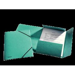 Teczka preszpanowa z gumką Esselte - zielona