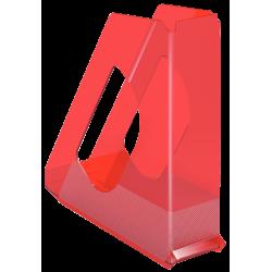 Pojemnik na dokumenty Esselte Europost Solea - przezroczysty czerwony
