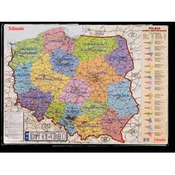 Mata na biurko Esselte 500 x 650 mm z mapą Polski