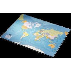Mata na biurko Esselte 400 x 530 mm z mapą świata