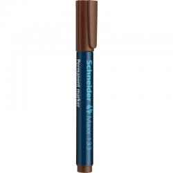 Marker permanentny Schneider MAXX 133 ścięty - brązowy