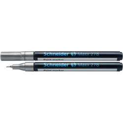 Marker olejowy Schneider MAXX 278, 0,8mm - srebrny