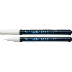 Marker olejowy Schneider MAXX 271 okrągły, 1-2 mm - biały